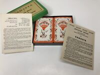 Vintage Canasta Playing Cards Complete w/ 2 Instructions Woman With Fruit Basket