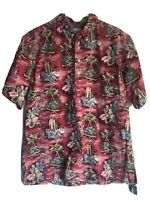 Reyn Spooner Bank Of Hawa Aloha Hawaiian Shirt Vintage Staff Or Resort Shirt XXL