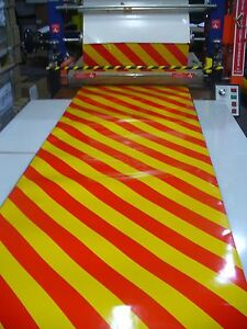 inHighway Reflective White & Yellow & Chevron Vinyl Magnetic Sheet, Safety Signs