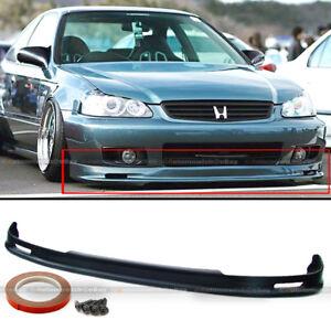 Fits 99-00 Honda Civic 2DR 3DR 4DR PU Polyurethane Mugen Style Front Bumper Lip