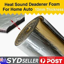 Firewall Sound Deadener Heat Thermal Reduce 11.84Sqft x 10mm Foam Car Insulation