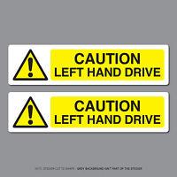 2 x CAUTION LEFT HAND DRIVE Stickers Decals Car Van Truck Road Sweeper - SKU2633
