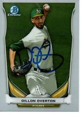 Dillon Overton Oakland Athletics 2014 Bowman Chrome #BCP26 Signed Card