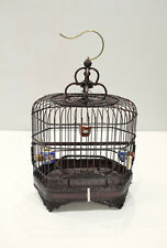 Chinese Wicker Birdcage Porcelain Water Food Bowls