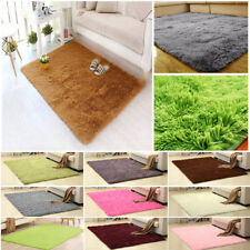 Fluffy Rugs Anti-Skid Shaggy Area Rug Living Room Carpet Floor Mat Home Decor