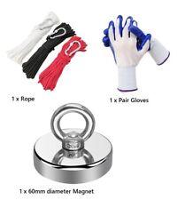 Magnet Fishing Kit-Super Strong 300lb magnet + 20m rope + gloves ($10 postage)