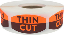 Thin Cut Grocery Market Stickers, 0.75 x 1.375 Inches, 500 Labels on a Roll