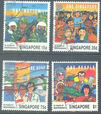 SINGAPORE 1990 Anniversary Independence Set of 4 to $1 Used