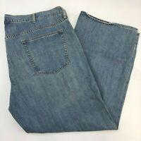 Old Navy Denim Jeans Mens 46X30 Blue Straight Leg 100% Cotton Medium Wash Zip Up