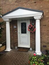 Elegance GRP Complete Door Entrance Canopy and Columns Package. *Free Delivery*
