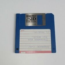 "Memorex 2S/2D 1.0 MB Double Density  Floppy Disk 3.5"" - edc"