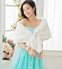 Autumn Winter Warm Scarves Bride Wedding Dress Coat Faux Fur Mink Collar Cloak