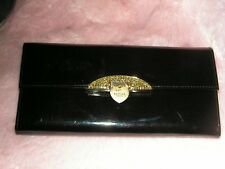 Lovcat Leather Wallet Clutch Luxe Preowned Black Patent