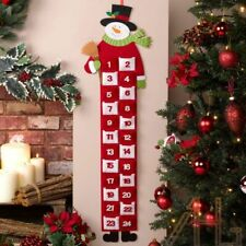 Hanging Christmas Advent Calendars Felt Holiday Countdown With Pocket Decoration