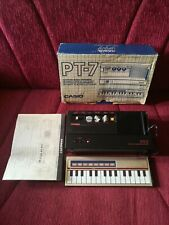CASIO PT-7 Mini Synthesizer 1982 Black RARE Vintage