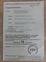 Rarität: Freigabebescheinigung JAMES BOND 007 DIAMANTENFIEBER