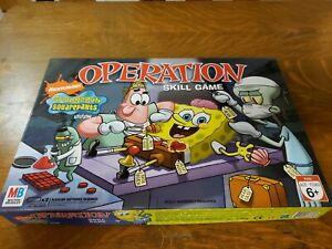 SpongeBob Squarepants OPERATION Board Game  Milton Bradley Nickelodeon used