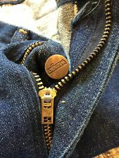 Vtg Wrangler Denim Dark Blue Bell Bottoms Jean Talon 42 Size 33x29 Made In USA.