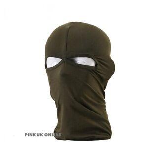New Green Ultra thin 2 hole Balaclava Ski Moto Bike Face Mask Sports Army SAS