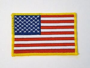 "3.5"" x 2.25"" USA American Flag Patch Sew On New"