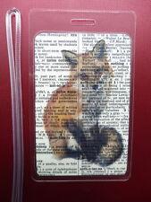 Fox Luggage Tag No.60, fox prints, woodland animal luggage tags, travel gifts