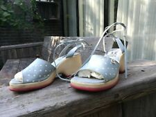 Shoes espadrilles oversized platforms size 39 summer shoes blue dots