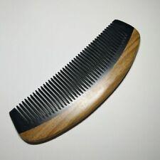 15CM Comb Natural Black Ox Buffalo Horn & Sandalwood Handle
