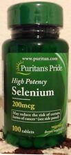 Selenium 200mcg 100 Tablets Immune System Support