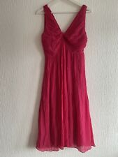PINK SILK FLOATY DRESS 14 PHASE EIGHT TOWIE CELEB SUMMER PRETTY CUTE PLEATED