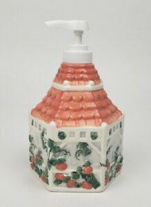 Vintage 1999 Ceramic Soap Dispenser Rose Garden Themed