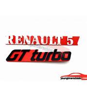 Monogramme Renault  5 + logo GT turbo LOGO EMBLÈME BADGE