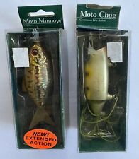 Lot of 2 Vintage Chuck Woolery Moto Chug & Moto Minnow Fishing Lures - Nib