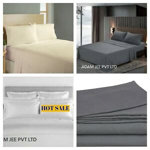 1900 SERIES FLAT SHEET SOFT SOLID TOP SHEETS WRINKLE FREE 100 % COTTON SATIN