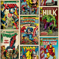Marvel Avengers Comic Retro Wallpaper