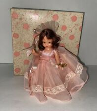 "5.5"" Nancy Ann Storybook Doll 87 Bridal Series Bridesmaid Pink Dress Aa N384 Pd"