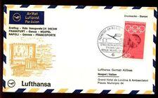 Germania 1968 FIRST FLIGHT COVER, FFC Francoforte-Neapel #C 4800