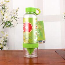 New Green Citrus Zinger Infused Water Drink Bottle 24cm height x7cm diameter