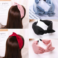 Fashion Women's Wide Hairband Big Bow Knot Headband Hair Band Hoop Accessories