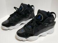 Nike Air Jordan Six 6 Rings Black/Blue BG GS  Size 4Y / Woman's 5.5   323419-016