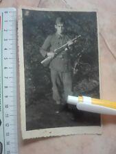 YUGOSLAVIA ARMY AFTER WWII WW2 PHOTO PICTURE MACHINE GUN PPSh-41 SHPAGIN