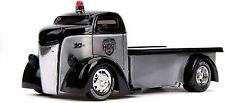 1947 Ford Coe Flatbed Tow Truck Raw Metal and Black Heat Jada 20th Anniversary