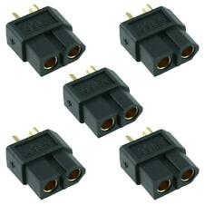 5 x Female Black XT60 Gold Plated Connector 30A Amass
