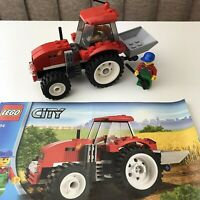 LEGO City Red Tractor 7634 Complete with instructions NO Box Farmer Minifigure