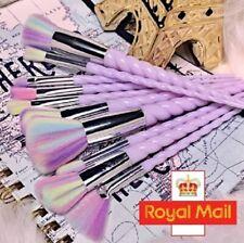 UK Unicorn Purple Rainbow Colour Makeup Cosmetic Face Eye Powder 10 PCS Brushes
