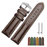 18 20 22mm Quick Release Leather watch Band Replace Wrist Strap Bracelet + Pins