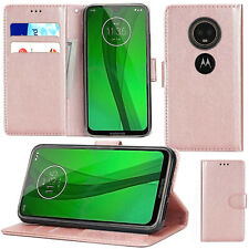 Shockproof PU Leather Wallet Flip Phone Case Cover For Motorola Moto G7 Power