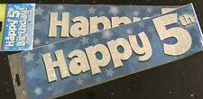 5th Boys Birthday Banner *Blue Foil Star * 2.7m will split into 3 * 5th Birthday