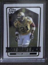 2007 Topps Draft Picks White Refractor #132 Calvin Johnson No 41 of 125