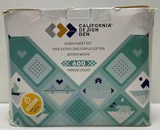 California Design Den 600 Thread Count 100% Cotton Sheets - Pure White