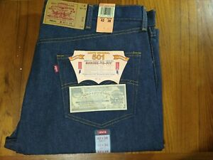 """Vintage Levis 501 Shrink To Fit Jeans 42 x 38 Made in USA  """"stamp/factory 555"""""""